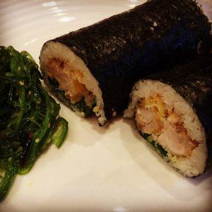 Copycat Mee's chicken schnitzel sushi