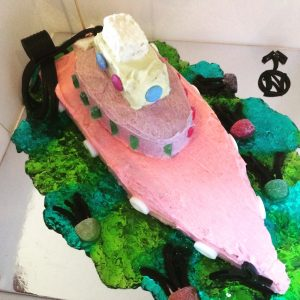"""Boaty Mcboatface: You are all kinds of beautiful.  Women's Weekly boat cake """"Boaty McBoatface""""- Part cake, part jelly and with the best name on the high seas"""