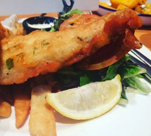 Fish and chips @theDuxton