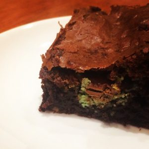 Mint Bubble Brownies