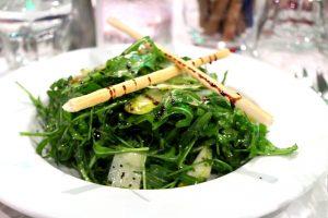 Pear, parmesan and rocket salad