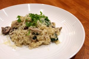 Duck and Mushroom Risotto