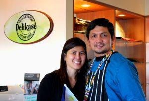 Medwin and Kotch at Delikase Filipino Restaurant