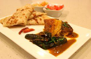 Fish curry and farata