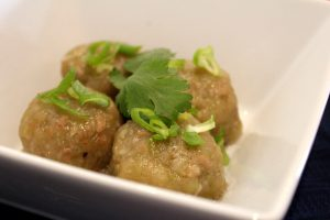 Pork and choko dumplings