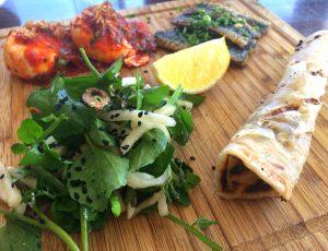Sardines with oelek eggs