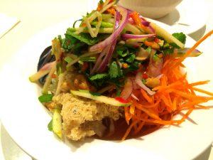 Fried Catfish Paw Paw Salad